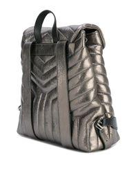 Saint Laurent Metallic Loulou Monogram Backpack