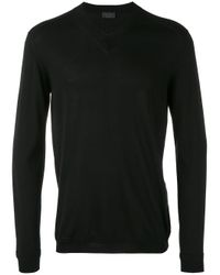 Pal Zileri Blue V-neck Sweater for men