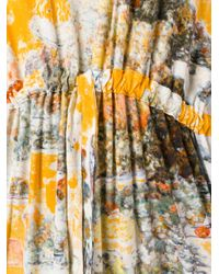 Anntian - Yellow Printed Jersey Dress - Lyst
