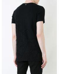 Fagassent Black Distortion Wash T-shirt for men