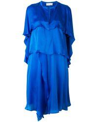Christian Wijnants - Blue Tiered Frill Dress - Lyst