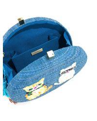 Serpui - Blue Embroidered Cat Shoulder Bag - Lyst