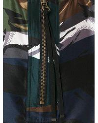 KENZO - Black Zip Detail Blouse - Lyst