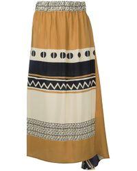 Nehera - Black Graphic Print Skirt - Lyst