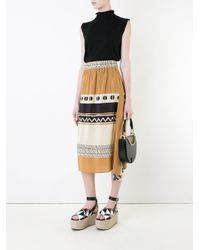 Nehera - Black Graphic Print Skirt - Lyst