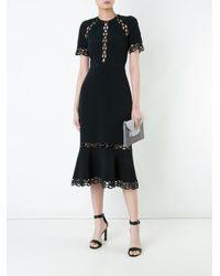 David Koma Black Chain Cutout Dress