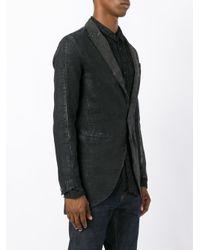Transit Gray Open Seam Detail Blazer for men