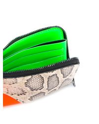 KENZO Orange Kurved Colour-block Wallet