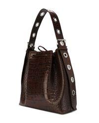 Marques'Almeida Brown Box Belt Shoulder Bag