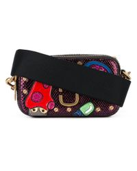 Marc Jacobs Multicolor Embellished Patch Cross Body Bag