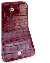 Aspinal - Red Croc Effect Purse - Lyst