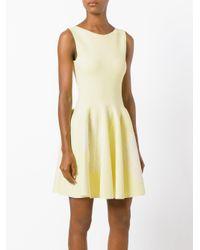 Antonino Valenti - Yellow Flared Embroidered Dress - Lyst