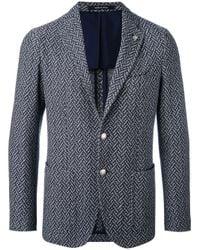 Tagliatore - Blue Casual Blazer for Men - Lyst