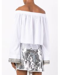 Aviu White Off Shoulder Shirt