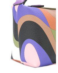Emilio Pucci Multicolor Abstract Print Makeup Bag