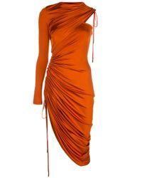 Monse ワンショルダードレス Orange