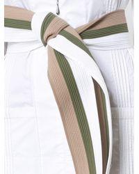 Johanna Ortiz White Belted Dress