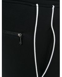 Neil Barrett Black Lightning Bolt Track Pants for men