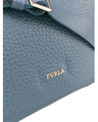 Furla - Blue Grained Effect Crossbody Bag - Lyst
