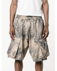 Yeezy Multicolor Camouflage Cargo Shorts for men
