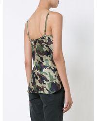 Nili Lotan Green Camouflage Cami