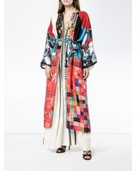 Rianna + Nina - Multicolor Multi-print Long Kimono Jacket - Lyst