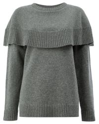 Chloé Gray Cashmere Knitted Sweater