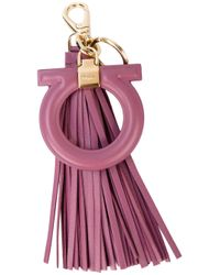 Ferragamo | Purple Gancio Tassel Bag Charm | Lyst