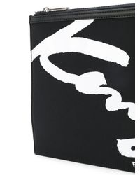 KENZO - Men's Black Polyurethane Clutch for Men - Lyst