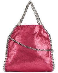 Lyst - Stella Mccartney Mini Falabella Tote Bag in Pink 3154a7b7a895b