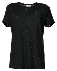 IRO Black Distressed T-shirt
