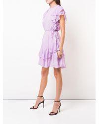 Lela Rose - Pink Plaid Ruffle Trim Dress - Lyst