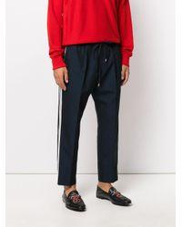 Gucci - Blue Weave Jogging Trousers for Men - Lyst