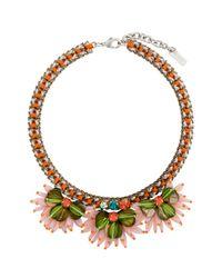 Rada' | Multicolor Gilded Gerbera Necklace | Lyst