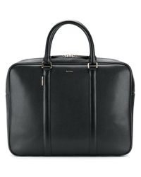 Paul Smith | Black Logo Stamp Zipped Briefcase for Men | Lyst