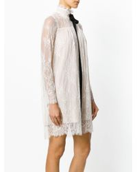 Twin Set Natural Lace Bow Blouse