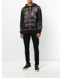 Dolce & Gabbana - Black Military Print Hoodie for Men - Lyst