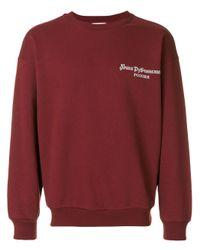 Gosha Rubchinskiy Purple Branded Sweatshirt for men