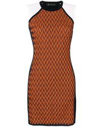 Versace   Orange Symmetric Knitted Dress   Lyst