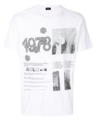 DIESEL | White Micro Studded T-shirt for Men | Lyst