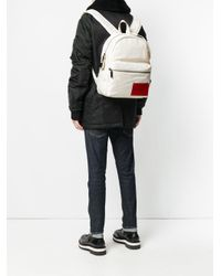 Calvin Klein White Logo Patch Backpack for men