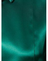 Dolce & Gabbana Green Bib Blouse