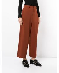 En Route - Brown High Waist Wide Leg Trousers - Lyst