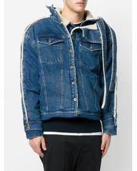 Y. Project Blue Denim Shearling Jacket for men