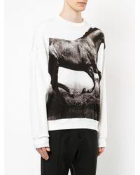 Yoshio Kubo - White Horse Print Sweatshirt for Men - Lyst