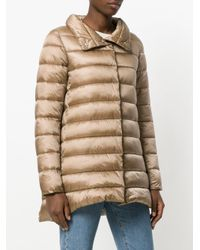 Save The Duck - Natural Metallic Padded Coat - Lyst