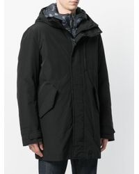 Woolrich Black Layered Padded Jacket for men