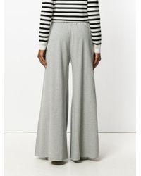 Erika Cavallini Semi Couture - Gray Flared Leg Tracksuit Bottoms - Lyst