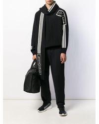 Écharpe en maille nervurée à bande triple Y-3 pour homme en coloris Black