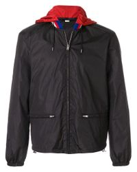 Gucci Black Hooded Jacket With Print for men